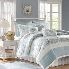 simply shabby chic cottage rose comforter set 3 pcs blue king ebay