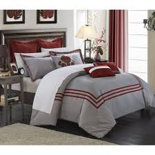 Red King Comforter Sets Cornelius 12 Piece Bed In A Bag Bedding Comforter Set Walmart Com
