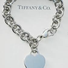 silver chain bracelet with heart images 27 off tiffany co jewelry tiffany heart bracelet in sterling jpg