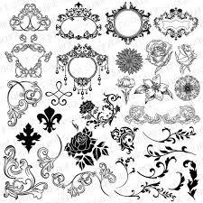 ornate damask frame clipart damask ornament clipart wedding
