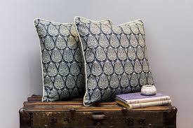 Ottoman Pillow Cushion by Ottoman Tulip Cobalt U2014 Abbot U0026 Atlas