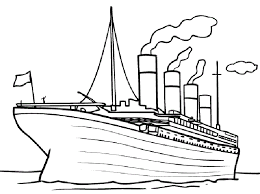free printable titanic coloring pages kids