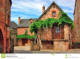 french house old traditional french house collonges la rouge royalty free