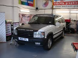 white wrapped range rover land rover p38 range rover full vinyl wrap ambient graphics