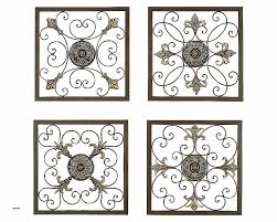 Set Of 4 Iron Scroll Wall Unique Tuscan Grilles Metal Wall Panels Set