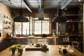 industrial lofts turned into homes kitchen island loft style