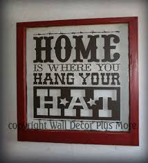 using old windows with wall decals in home decor wall decor plus home hang your hat decal on window with red painted frame