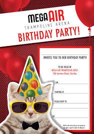 trampoline invitations children u0027s parties kids birthdays kids parties