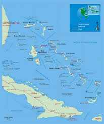 North America Political Map by Detailed Political Map Of Bahamas With Roads Railroads And Major