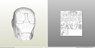 papercraft pdo file template for iron man mark 42 three