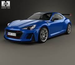 subaru sports car brz 2015 subaru brz sti performance concept 2015 3d model hum3d