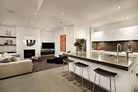 home design kitchen living room small open plan kitchen and alluring kitchen to living room designs