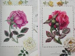 silk ribbon roses roses in silk organza ribbon book review needlenthread