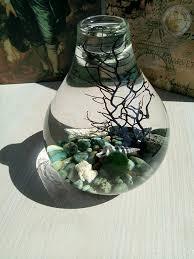 drop orb terrarium aquarium kit natural turquoise raw pebbles