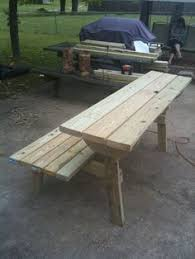 Free Wooden Park Bench Plans by Ana White Build A Picnic Table That Converts To Benches Free