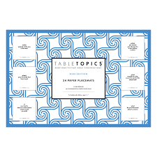 table topics for kids lani schreibstein visual designer tabletopics paper placemat pads