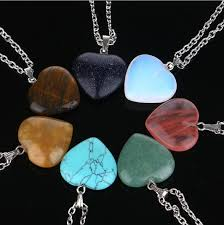 turquoise stone pendant necklace images Wholesale the new heart stone necklace pendant turquoise crystal jpg
