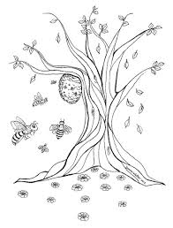 honey bee hive drawing