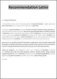 recommendation letter templates samplebusinessresume com