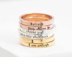 inspirational rings inspirational ring etsy