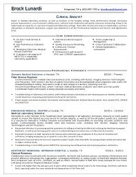 Application Support Analyst Resume Sample by Brock Lunardi Clinical Analyst Resume