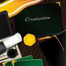 graduation items graduation items vector image 1528564 stockunlimited