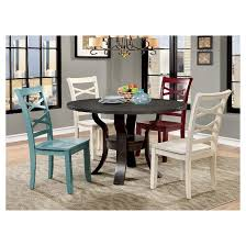 Espresso Dining Room Furniture Sun U0026 Pine Summers Transitional Round Dining Table Espresso Target