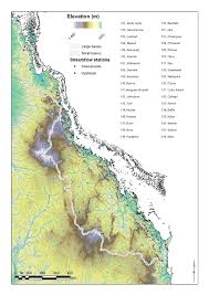 Great Barrier Reef Map Dem Of The Catchments Draining To The Great Barrier Reef