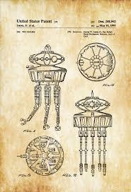 Star Wars Office Decor Star Wars Viper Probe Droid Patent Poster Patent Print Wall