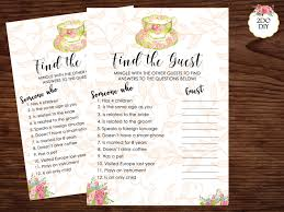 find the guest bridal shower game find the guest printable tea