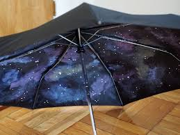 paint your own galaxy umbrella pink stripey socks