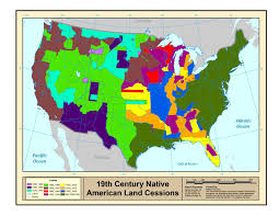 Usa Map 1860 by Native American Population Study