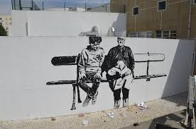 discover portugal s most talented street artists best of street he painted two characters on a wall