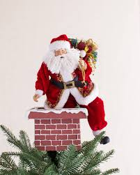 jolly saint nick tree topper balsam hill
