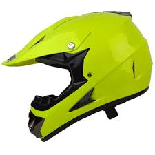 yellow motocross helmet youth pgr x25 neon yellow motocross dirt bike dune buggy off road