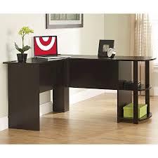 L Shaped Computer Desk Target Dakota L Shaped Desk With Bookshelves Espresso Altra Target