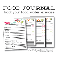 printable daily food intake journal updated printable food journal