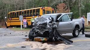 bus with 23 students on board crashes on cape cod necn
