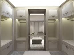 master room with bathroom and dressing room interior design