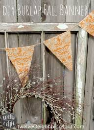 diy fall burlap banner twelveoeight
