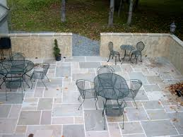 Round Stone Patio Table by Natural Minimalist Design Of The Stone Patio Design That Has Round