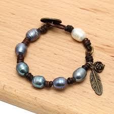 bracelet bead leather images Aobei pearl ets b475 handmade freshwater pearl beaded leather jpg
