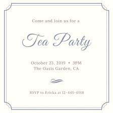 tea party invitation templates canva