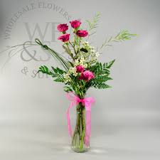 wholesale flowers and supplies fluted glass bud vase wholesale flowers and supplies
