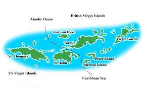 map of bvi and usvi islands sailing school bvi and usvi caribbean