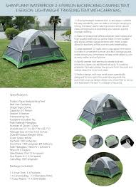 Camping Tent Awning Shinyfunny Family Camping Tent Apollobox