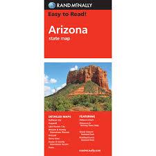 Grand Canyon Arizona Map by Rand Mcnally Easy To Read State Folded Map Arizona