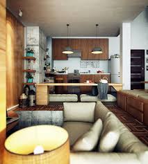 Interior Design High Ceiling Living Room Compact Loft Apartment With High Ceiling Creates Extra Work Space