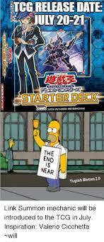 Yugi Memes - tcgrelease date jul 20 21 the end near yugioh memes 20 link summon