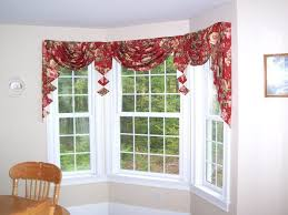 Bay Window Valance Dining Room Windows With Triangle Valances Creating Stylish
